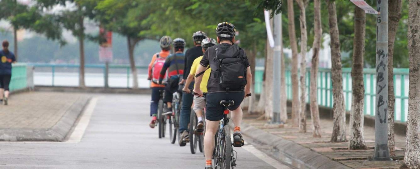 Image result for biking in hanoi
